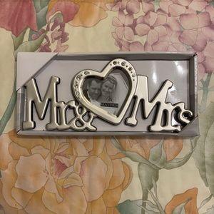 Malden Int. Design Mr & Mrs photo frame